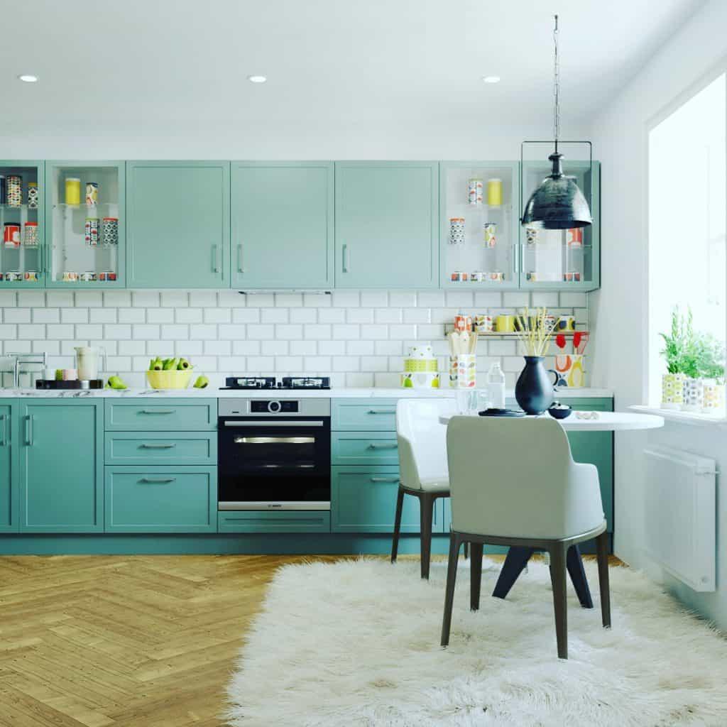 Aquamarine kitchen design